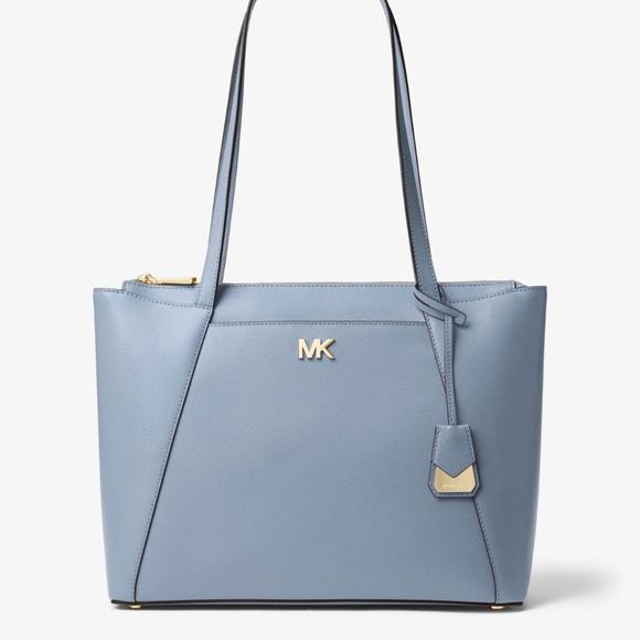 0f8e13e13e07 MICHAEL KORS Maddie Medium Crossgrain Leather Tote